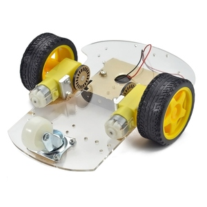 Two Speed Acrylic Robot Chassis Smart Car Chassis Tracing Car Robot Car Chassis with Code Wheel / Speed / Send Battery Box
