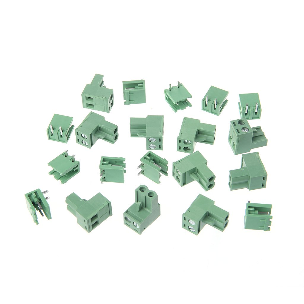 OTGO 10 Sets 2/3/4/5/6/7/8P Right Angle Terminal Block 5.08mm Pitch Connector PCB 300V 10A
