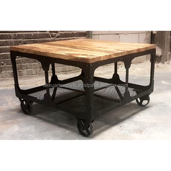 Cool Wooden Iron Coffee Table Vintage Industrial Modern Coffee Gamerscity Chair Design For Home Gamerscityorg