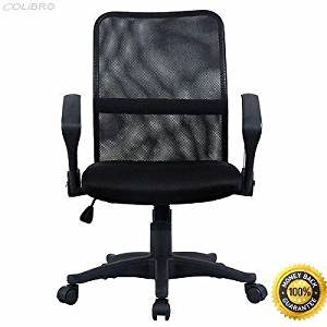 """COLIBROX--Modern Ergonomic Mesh Mid-Back Executive Computer Desk Task Office Chair Color: Orange+Black Load capacity: 264 LBS Tested For:120-150 Kg(264-330lbs) Dynamic State Overall dimension: 24"""" x"""