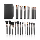 29pcs silver makeup brush set with sable hair makeup brushes