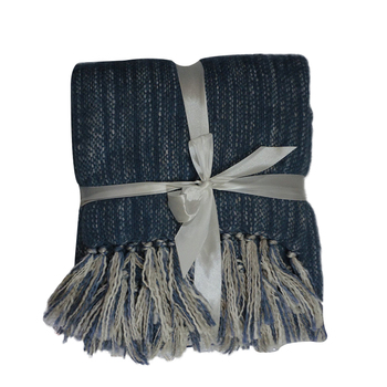 Popular Blue-gray acrylic corrugated blanket