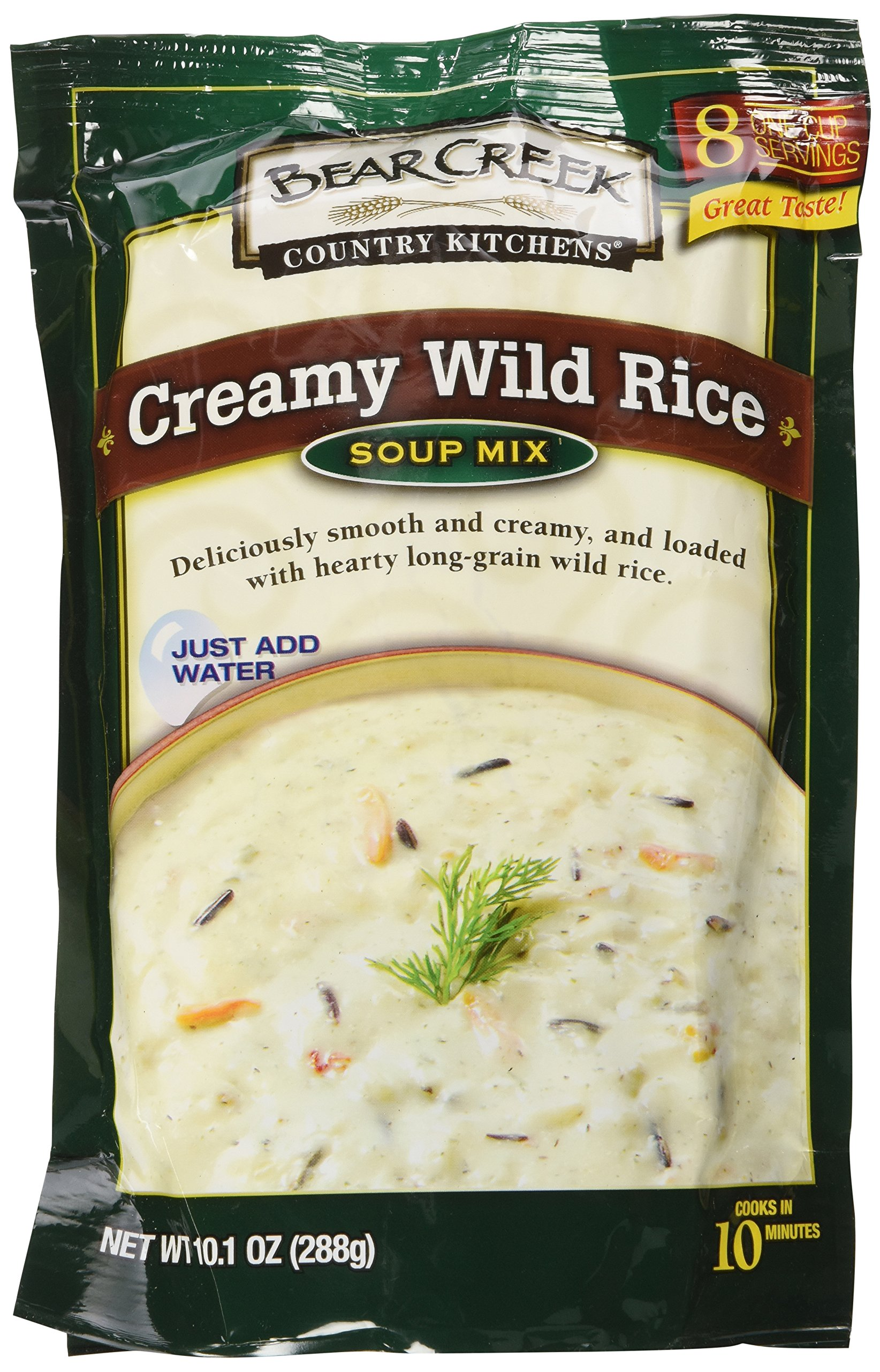 Bear Creek Country Kitchens Dry Soup Mix 6-Pack: 2 Chicken Noodle, 2 Creamy Wild Rice, 2 Cheddar Broccoli, Each Package Makes 8 Hearty One-Cup Servings, Just Add Water!