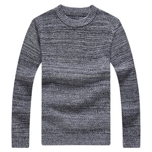 Mens Fall Winter Round Neck Long Sleeve Knitted Casual Sweater