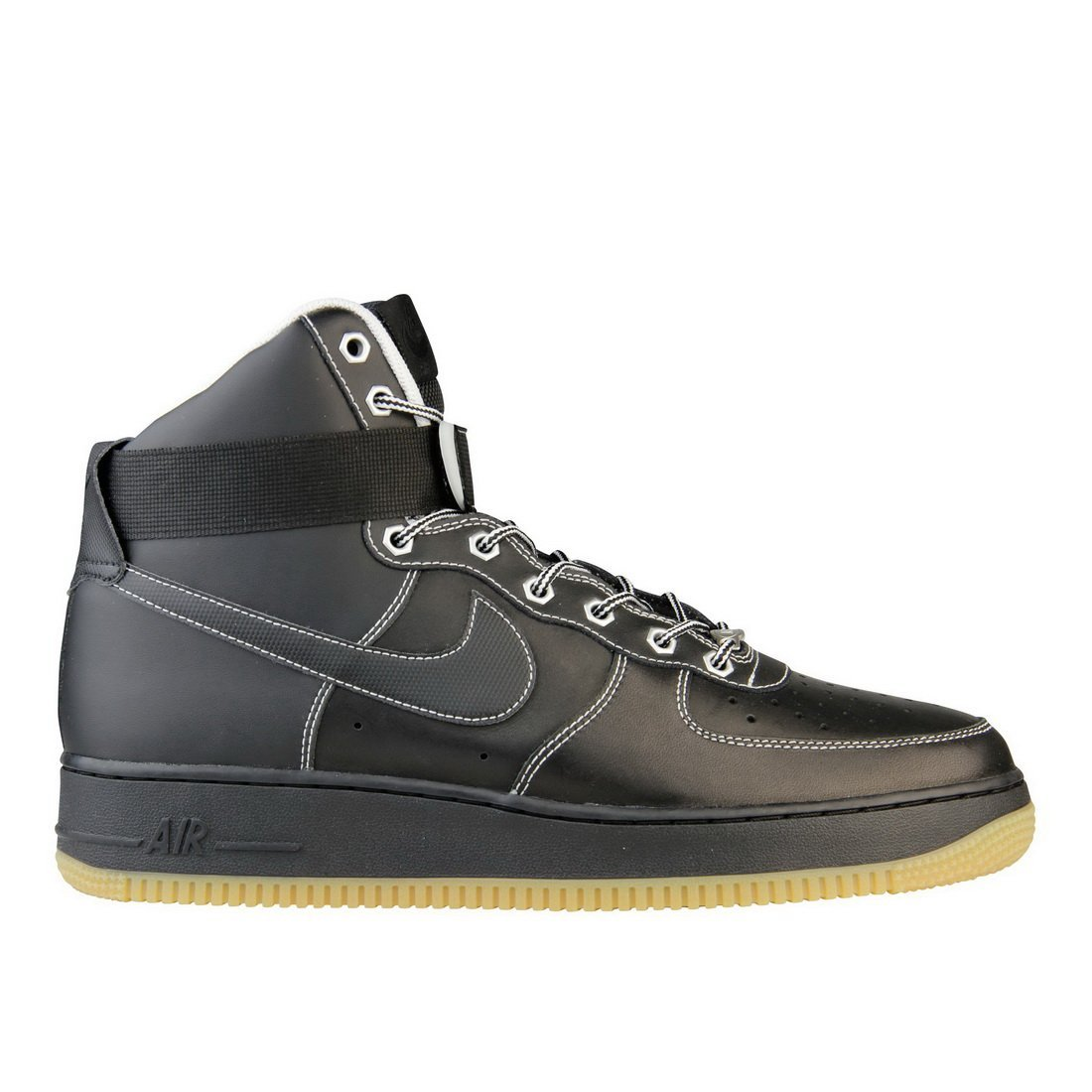 official photos 0be1b cacfe Get Quotations · NIKE SPORTSWEAR MENS AIR FORCE ONE HIGH SNEAKER Black -  Footwear Sneakers 7.5