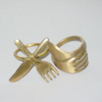 matt brass restuarent napkin ring suppliers