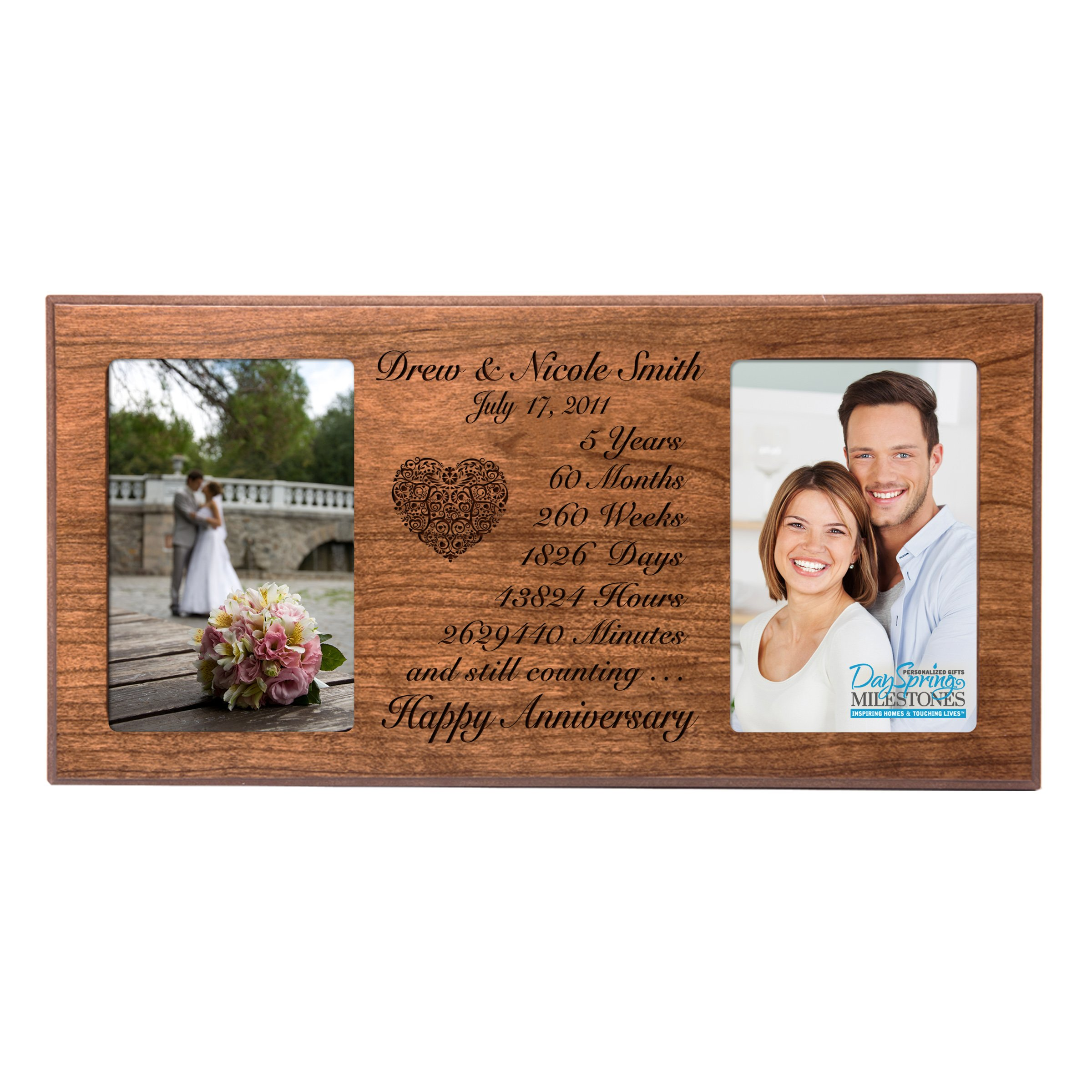 Buy Personalized Five Year Anniversary Gift Her Him Couple Custom