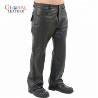 SIMPLE BIKER LEATHER MEN PANTS
