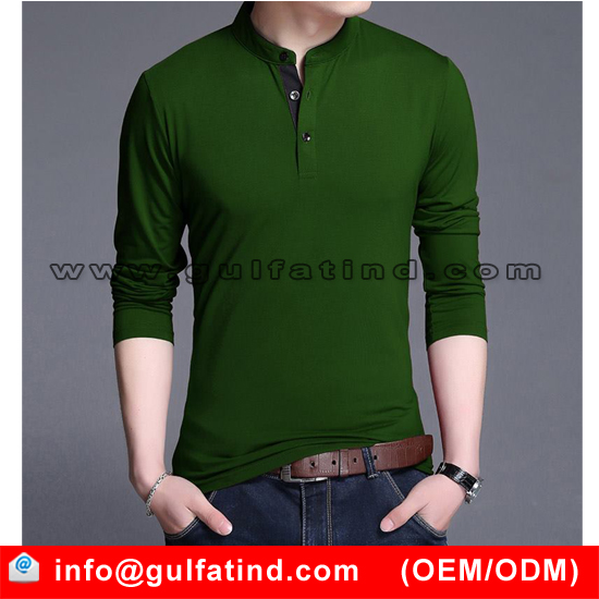 the best fit green long sleeve t shirt, full sleeve Lycra jersey tshirt