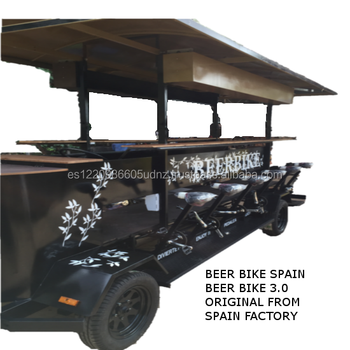 BEER BIKE BLACK 3.0 SPAIN 4 WHEELS PUB BUS Electric Beerbike,partybike,pub bike