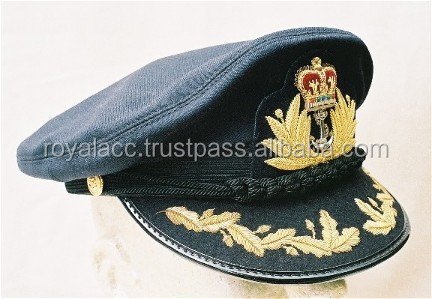 2f33990ba2f954 US officer visor hat with metal insignia/American military hat with leather  peck