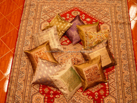 Manufacturer & Exporter of Silk Cushion Cover from India