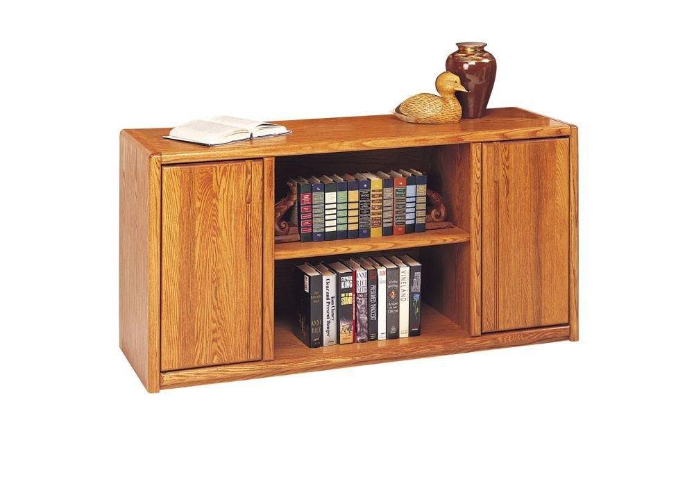 "Medium Oak Storage Credenza - 60""W Medium Oak Dimensions: 60""W x 19.25""D x 30""H Weight: 202 lbs"