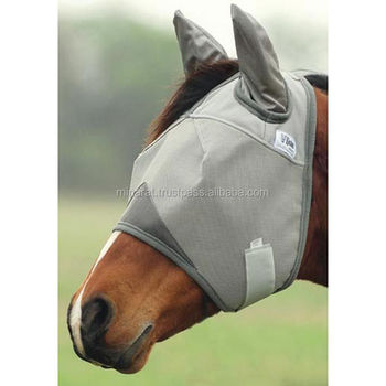 FLY MASK HORSE WITH EARS COVER Standard Size Sun Protection
