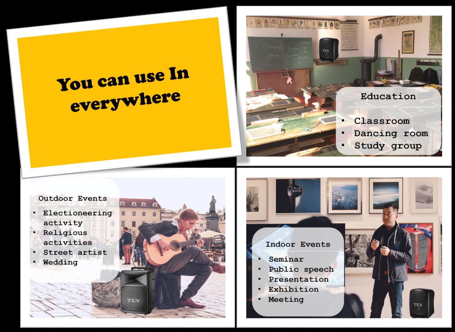 public address wireless portable sound system