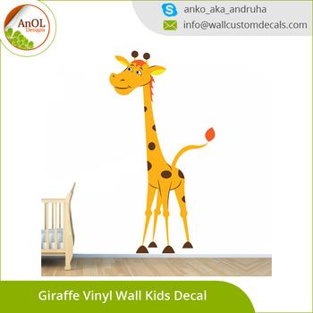 wholesale wall sticker home decor vinyl giraffe wall decals for kids