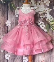 Wedding and birthday party princess dress , flowers puffy dress with mesh and lace kid clothes, layers baby girl wearing.