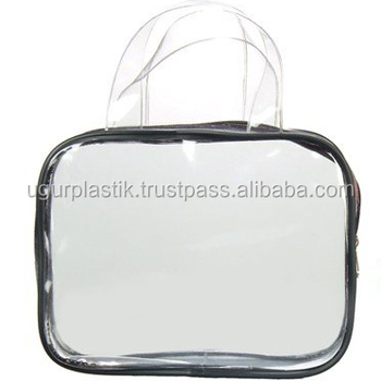 Pvc Cosmetic Bag With Handle