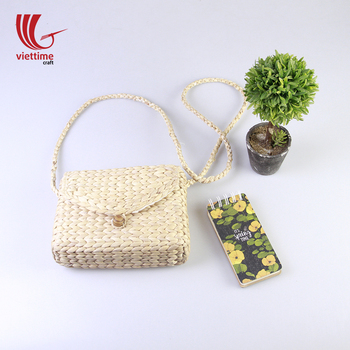 Beautiful handmade water hyacinth bag/ Crossbody straw bag for woman