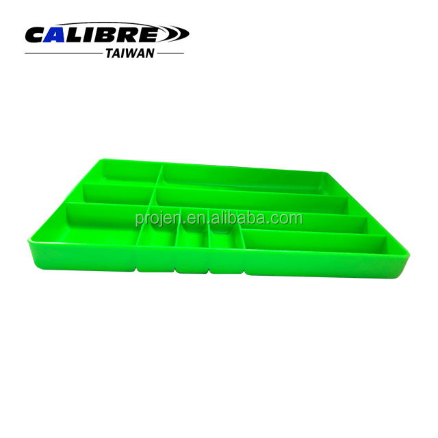 CALIBRE 10 Compartment Plastic Low-Profile  Drawer Organizer Part Tray