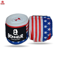 Wholesale Custom printed USA Flag boxing bandage / Fighting Hand Wraps Used for Boxing