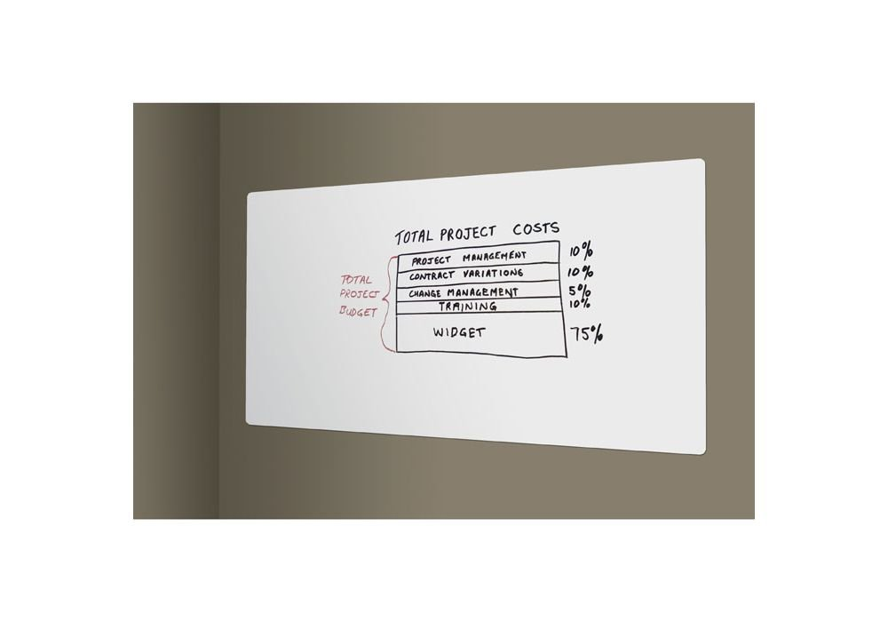 """Peel And Stick Whiteboard - 3"""" X 2"""" White Porcelain Steel Dimensions: 36""""W X .116""""D X 24""""H Weight: 10 Lbs"""