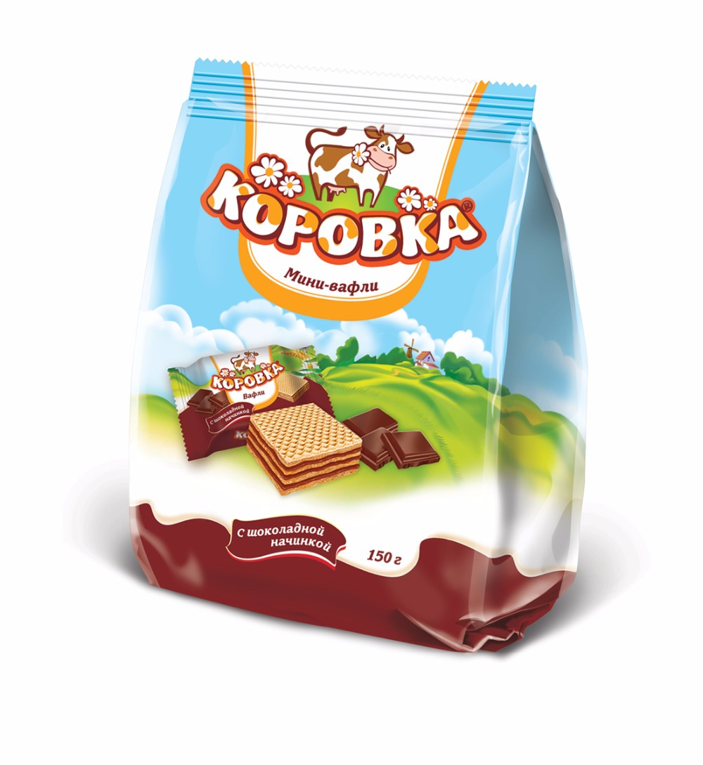 Wafers Cookie Korovka With Baked Milk Taste,Pack 300 G.