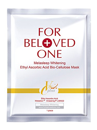 For Beloved One Melasleep Whitening Ethyl Ascorbic Acid Bio-Cellulose Mask, 1 Ounce