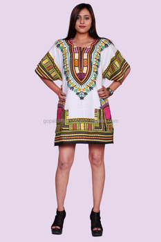 0be461ebb8 Unisex Tribal African Shirt Dress Men Women Dashiki Print Hippie Style  Caftan