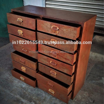 Mogul Antique Indian Handcarved Cabi Chest Rustic Furniture Armoire With Drawers Interior Decor New Shipment