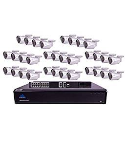 Montavue MTIP832632B 32 Channel 4K Ultra HD NVR Security System with 32 4 MP IP Bullet Security Cameras, 6TB HDD and 130' Color Night Optics