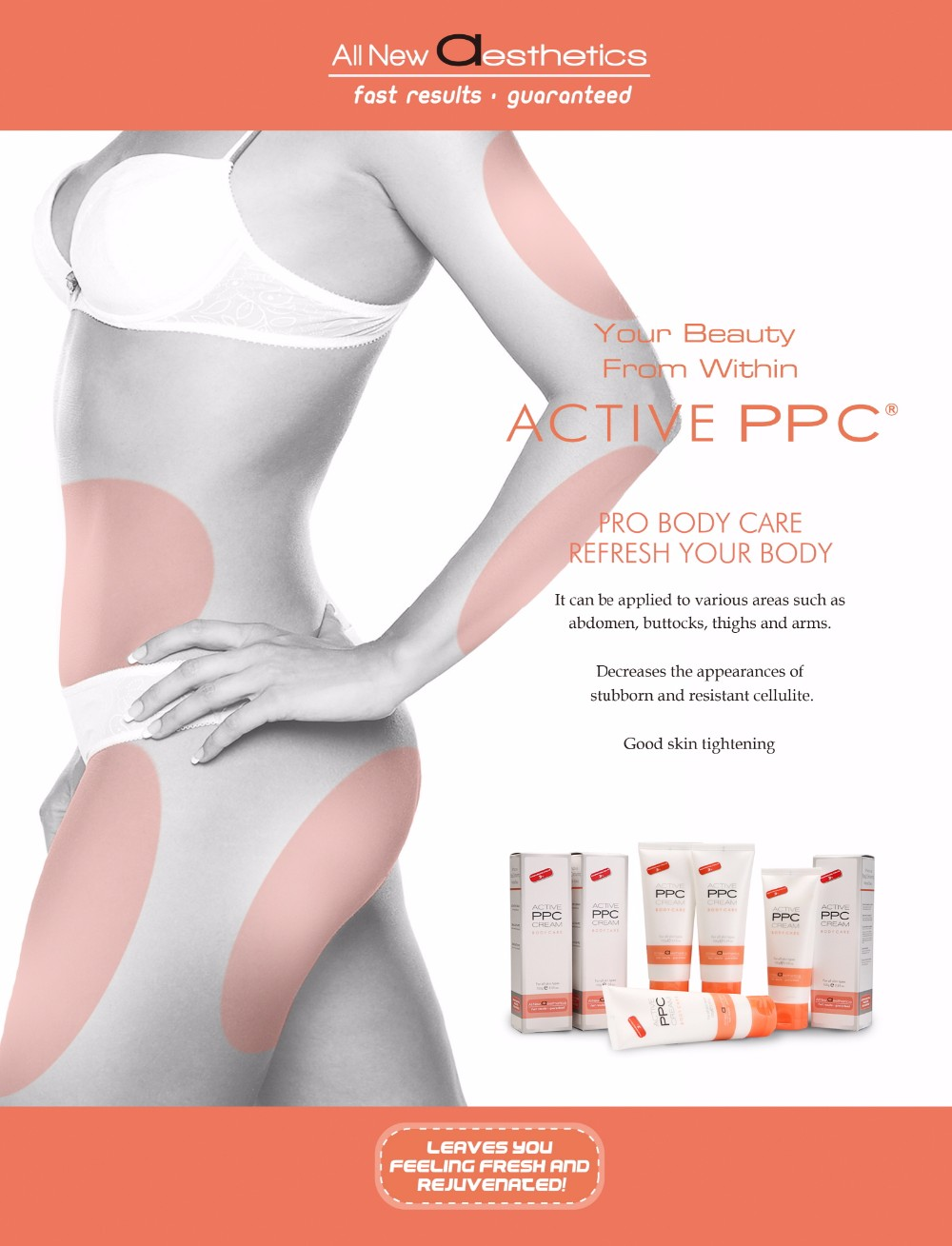 Active Ppc For Lipolysis Body Shaping And Slimming Cream,Lymph Draining And  Cellulite Loss By Hot Thermal Effect - Buy Cellulite Cream,Ppc