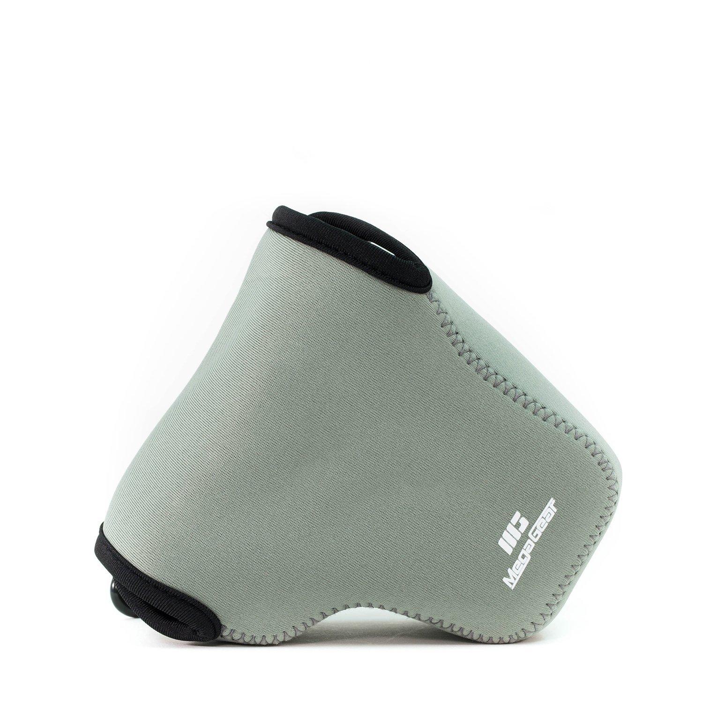 MegaGear ''Ultra Light'' Neoprene Camera Case Bag with Carabiner for Sony Cyber-shot DSC-RX10, Sony Cyber-shot DSC-RX10 II (Gray)