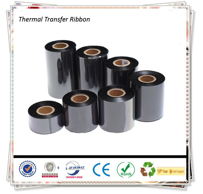 Wax Ribbon for Zebra Ribbon Thermal Printer,Thermal Wax/Resin Ribbon For Printing Thermal Transfer Labels