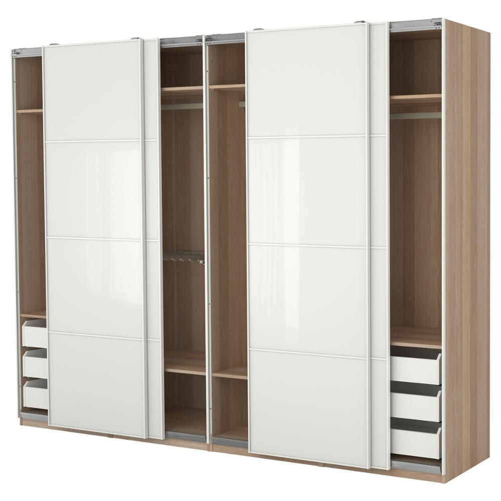 Bedroom Wardrobe Sliding Design Interior Large Brown ...