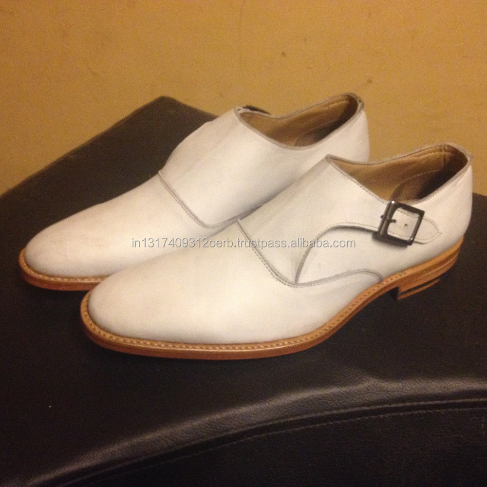 Latest Formal Factory Handmade Shoes Leather Monk For Style Strap Goodyear Men Italian India Welted Fwqz1txU0
