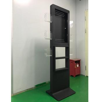 "27"" TouchScreen standing display totem with 6 side brochure holders and item placement area CE Rohs LVD  certified"