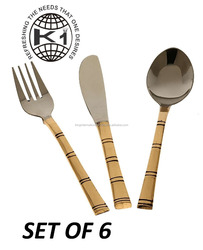 Royal Flatware sets stainless steel dinnerware sets fork spoon and knife gold coated cutlery sets