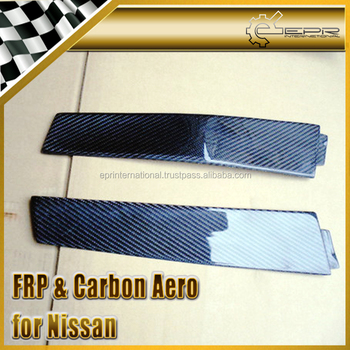 Real 3D Glossy Carbon Fiber B-Pillar Cover For Nissan Skyline R33 GTR GTST