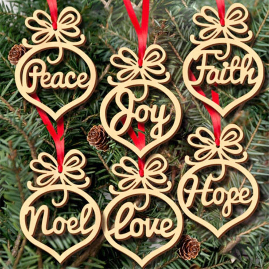 wholesale fashion simply popular custom design laser cut 8cm <strong>wooden</strong> christmas tree ornament