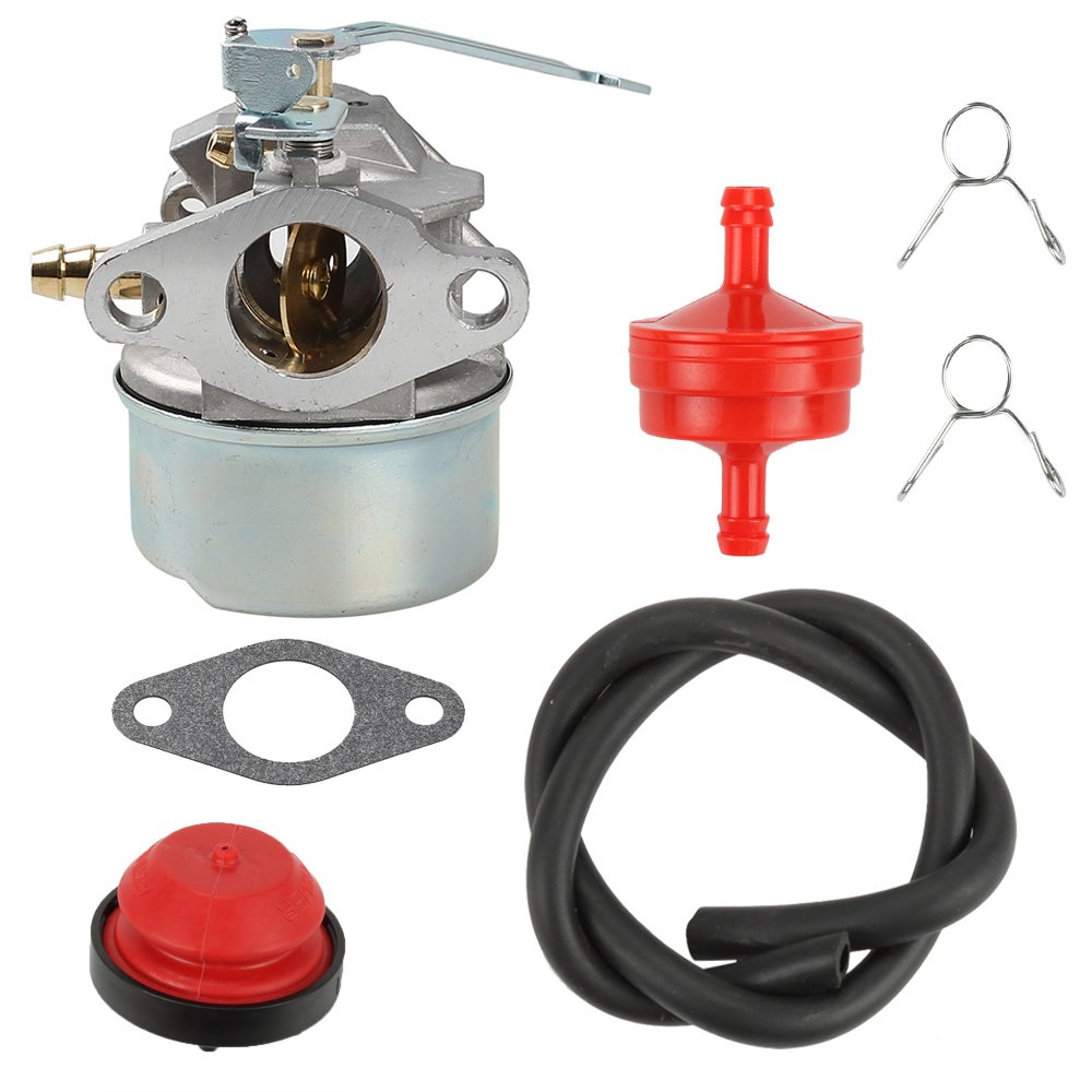 Get Quotations · Anzac Carburetor with Gasket Primer Bulb Fuel Filter Fuel  Line Clamps For Tecumseh 3HP 2 Cycle