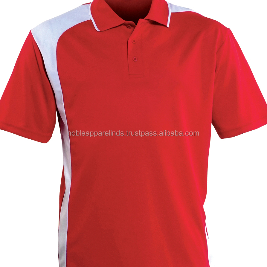 golf t shirt custom brand polo shirt color red and white style with design polo shirts men