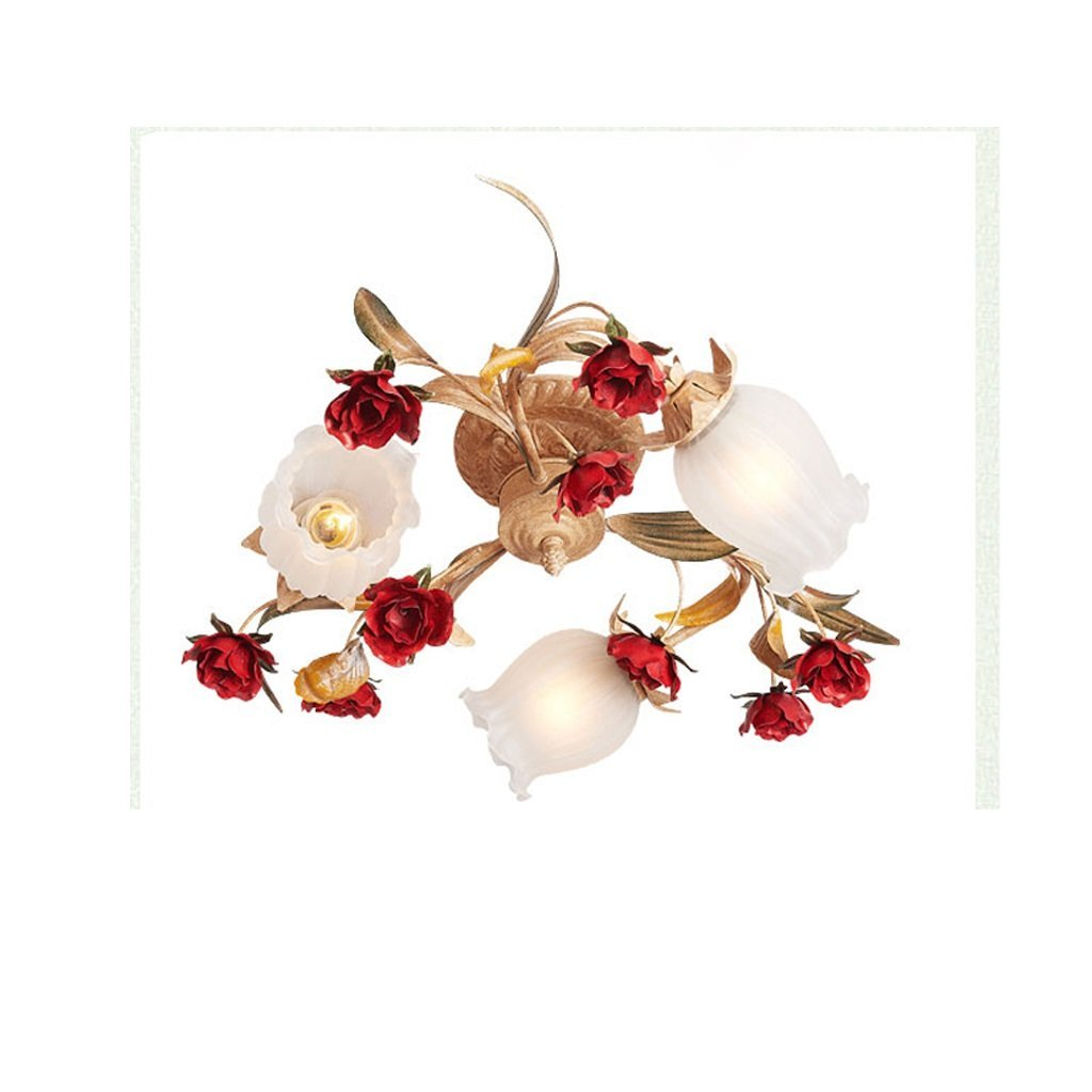 WAN SAN QIAN- E27 French Country Style Bedroom Warm Living Room Pastoral Style Ceiling Light Personalized Creative Atmosphere French Villa Ceiling Lamp Ceiling Light ( Size : 4518cm )