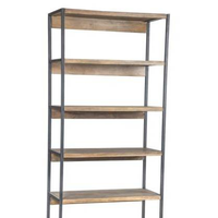industrial antique 7 tiers wood bookshelf for storage book display stand Suitable for bedroom school office