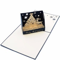 Custom happy birthday 3D greeting card ,different kinds of pop up greeting card with your own