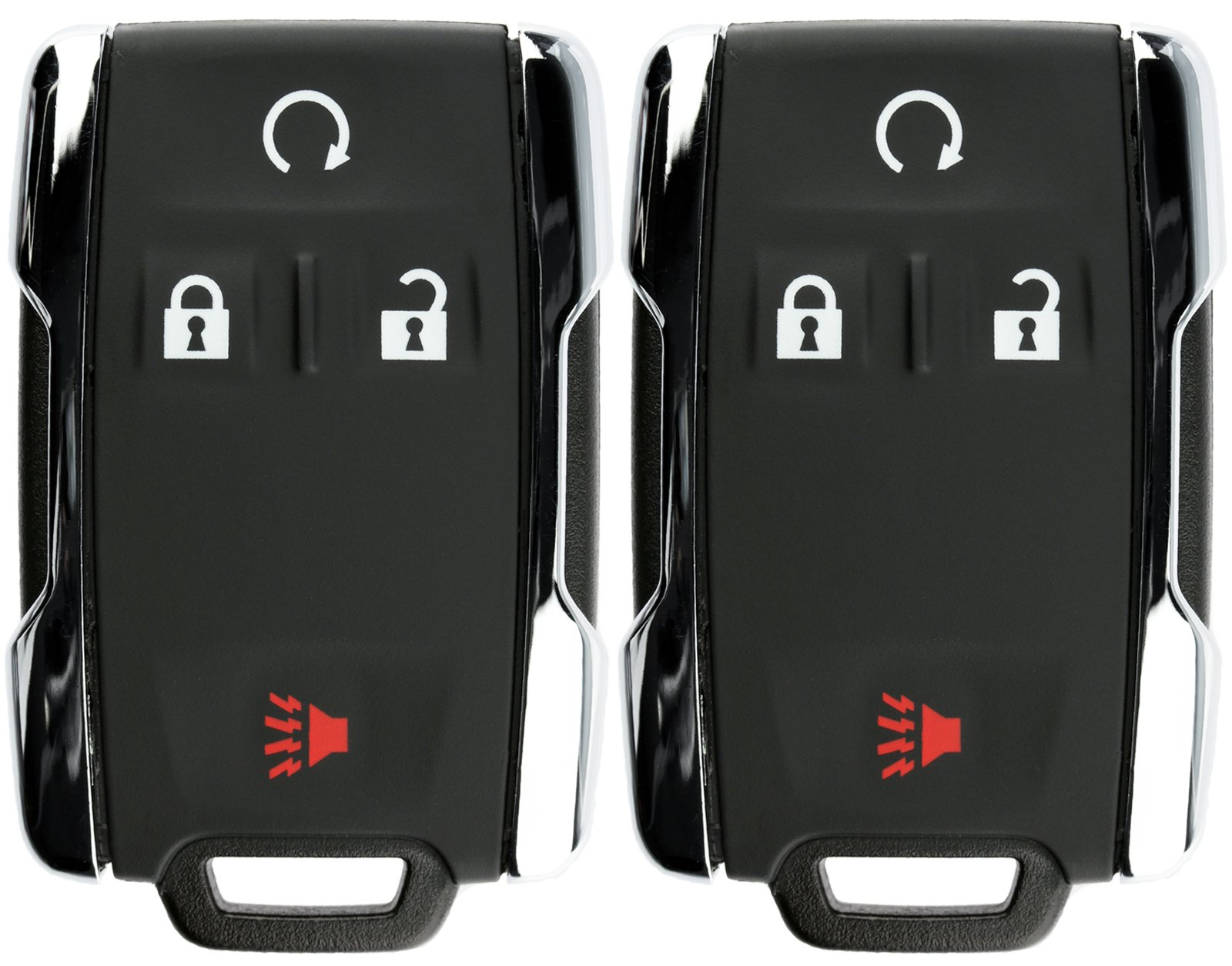 KeylessOption Keyless Entry Remote Control Car Key Fob Replacement for Chevy GMC M3N-32337100 (Pack of 2)