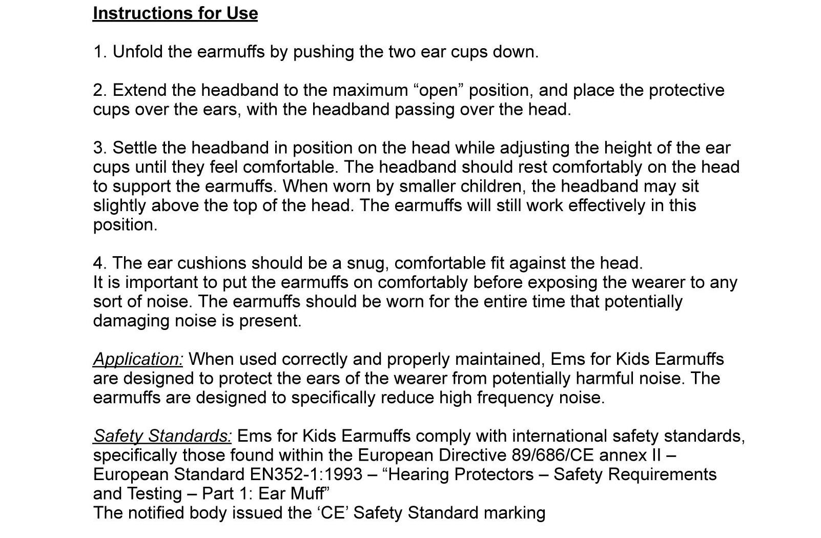 Baby Ear protectors and hearing protection
