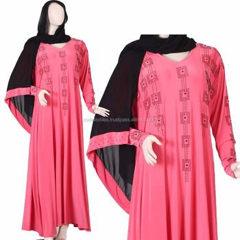 Kode Tekstil Wanita Muslim Baju Gamis Model Baru Abaya Di Dubai