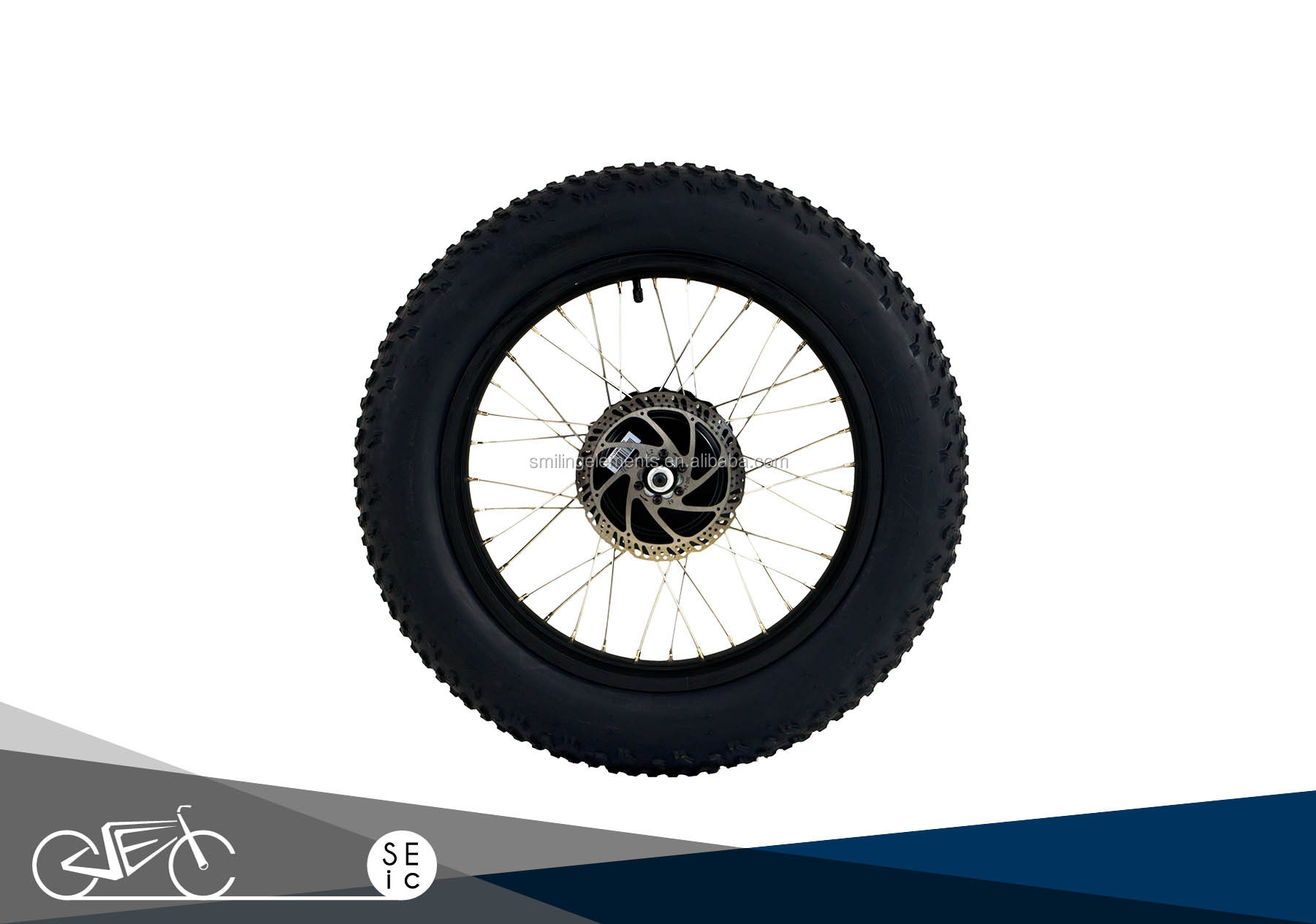 "OEM/ODM e bike fat tire -Taiwan KENDA 20x4.0"" Fat wheel set with 48V 500W Motor hub for Electric bicycle"
