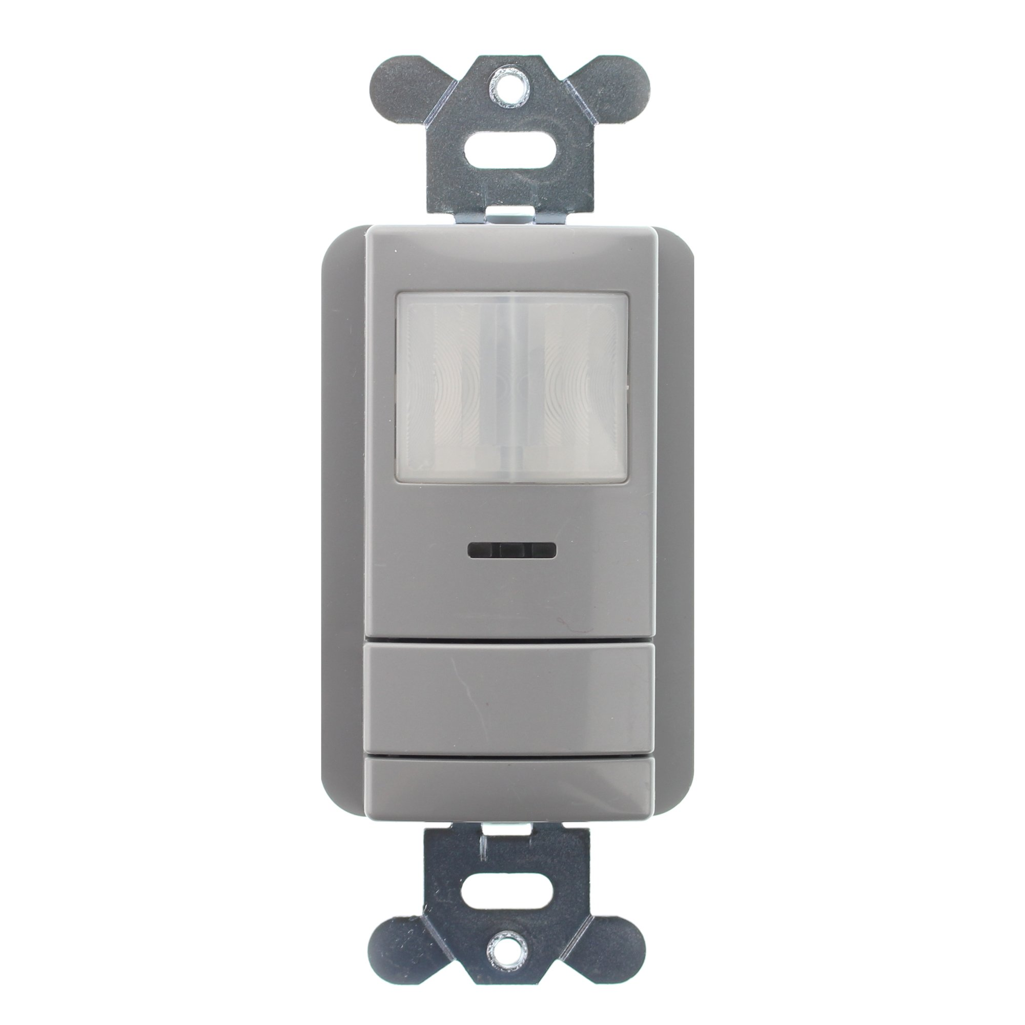 Black 180 Degree 1200 Square Foot Vacancy Sensor Wall Switch 3 by 3 Auto ON//OFF Passive Infrared Leviton OSSNL-IFE Night Light